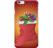 Christmas sock iPhone Case/Skin