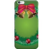 Christmas wreath with bells iPhone Case/Skin