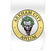 Arkham City Asylum (badge) Poster