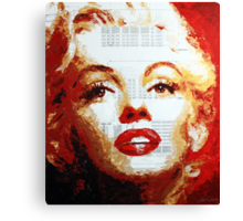 Marilyn - Blue Print Canvas Print