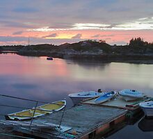 Calm pier at sunset by Mikhail Lavrenov