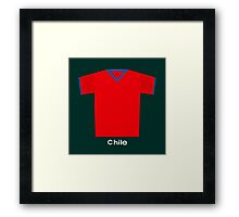 Retro Football Jersey Chile Framed Print
