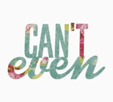 Like, I Can't Even Vintage Green Floral Print Design T-Shirt