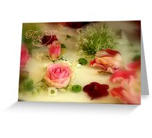 Thank You - Pretty Flowers - JUSTART ©  Greeting Card