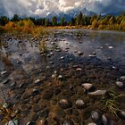 Teton Mountains and Snake River by KellyHeaton