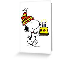 Happy birthday Snoopy Greeting Card