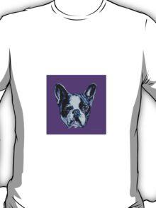 Francois the French Bulldog - Purple T-Shirt
