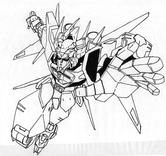 Voltron line art by ED RIGAUD