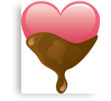 Valentines Chocolate Dipped Heart Canvas Print