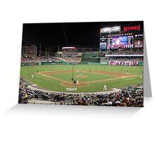 Washington Nationals Baseball Ballpark Greeting Card