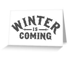 Winter Is Coming Cross Stitch Design Greeting Card