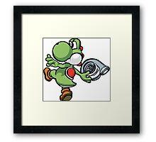 Yoshi throwing turbo Framed Print