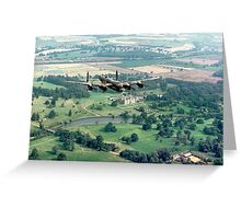 "Lancaster B.1 ""City of Lincoln"" over Burghley House Greeting Card"