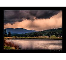 Country Lake Thunderstorms Photographic Print