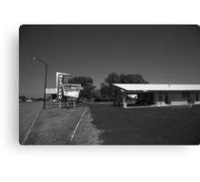 Route 66 - Western Motel Canvas Print