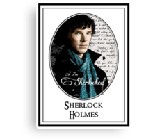 Benedict Cumberbatch, Sherlock Holmes - I Am Sherlocked Canvas Print