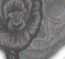 Lady Skull Pointillism Sticker