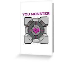 You Monster (white) Greeting Card