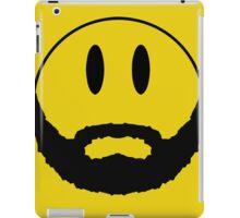 Emoticon with beard. iPad Case/Skin
