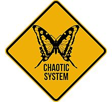 Chaotic system. The butterfly effect. Chaos theory. Photographic Print