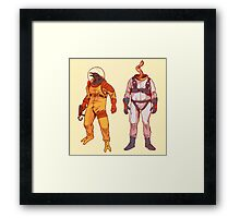 Earthworm Jim & Psycrow Framed Print