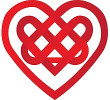 Celtic Heart Photographic Print