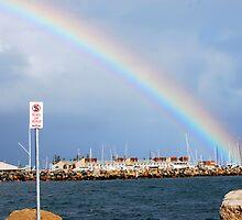 rainbow over Fremantle #2 by robert murray