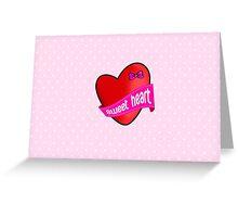 Cute sweet heart Greeting Card