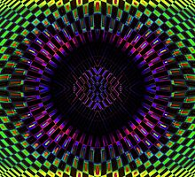 Tumbler No. 27 - Psychedelic Groovy Optical Illusion Geometric Pattern by capartwork