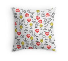 All in One 1D shirts Vintage Throw Pillow