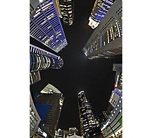 Raffles Plaza in Fisheye Photographic Print