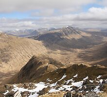 Glen Kingie from Fraoch Bheinn high above Loch Arkaig. by John Cameron