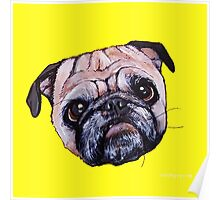 Butch the Pug - Yellow Poster