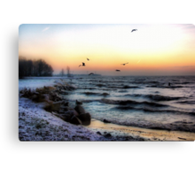 A Cold Stormy Morning Canvas Print