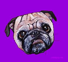 Butch the Pug - Purple by PAINTMYPUG