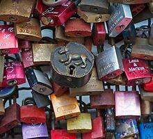 Love Locks, Cologne, Germany. by David A. L. Davies