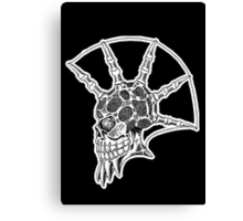 Punk Skull - bordered Canvas Print