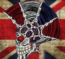 Union Jack Punk Skull by SquareDog