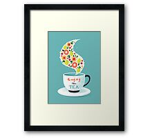 Enjoy the Tea Framed Print