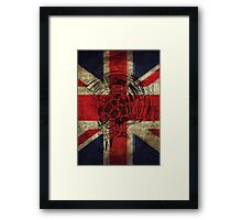 Union Jack Punk Skull - outline Framed Print