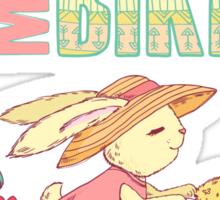 Cute rabbit riding a bike Sticker
