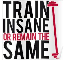 Train insane or remain the same. Poster