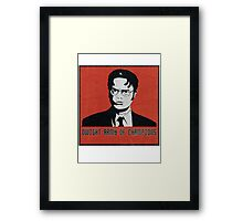 Dwight Army of Champions Framed Print