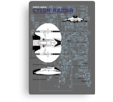 Owners Manual - Cylon Raider Canvas Print