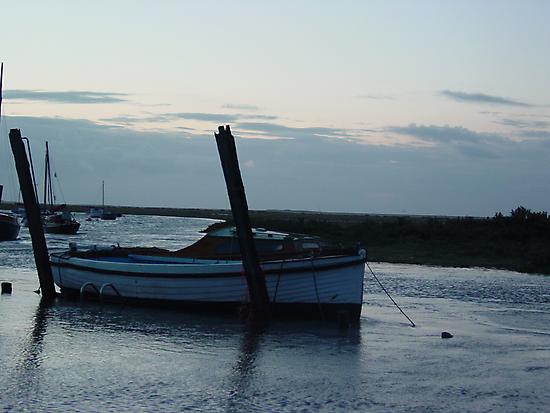 Boat at Blakeney by Richard Elston