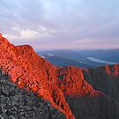 Dawn on the Summit of Ben Nevis. by John Cameron