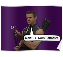 Renner Loves Arrows Poster