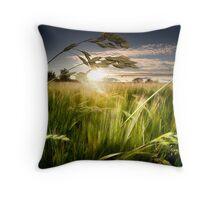 Green Isle Sunset Throw Pillow