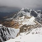 Stob Ban in winter. by John Cameron