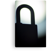 Combination code padlock silhouette photograph Canvas Print